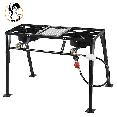 Backyard Pro Standing Dual Burner Propane Stove For Outdoor Camping Patio