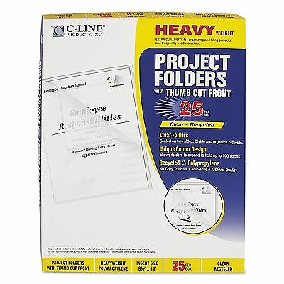 C-Line - Project Folders Jacket Letter Poly Clear - 25 Pack New