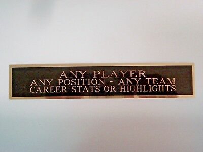 Any Player Nameplate For A Signed Baseball Jersey Display Case Or Photo 1.5 X 8