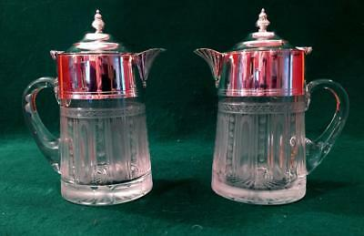 Beautiful pair of Victorian water/wine jugs.Roberts & Belk circa 1890
