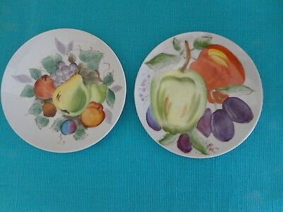 Vintage 2 Hand Painted Fruit Saucers