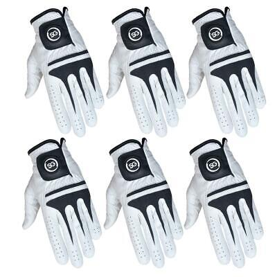 """SG"" 3 X Pack 100% Cabretta Leather Men golf gloves LEFT/RIGHT hands SIZES S-XXL"