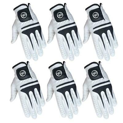 SG White full Cabretta Leather Men golf gloves different quantity pack available