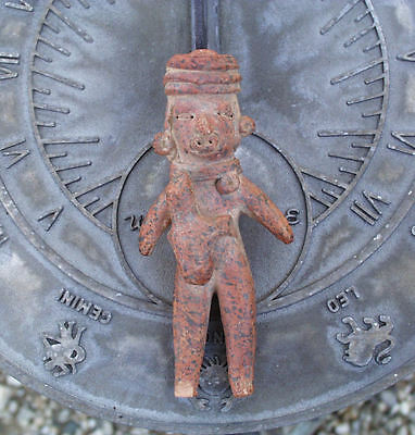 Pre Columbian Clay Pottery Human Figure With Animal