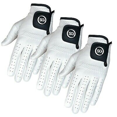 """SG"" 3 X pack 100% Cabretta Leather Men golf gloves left and right hands S-XXL"