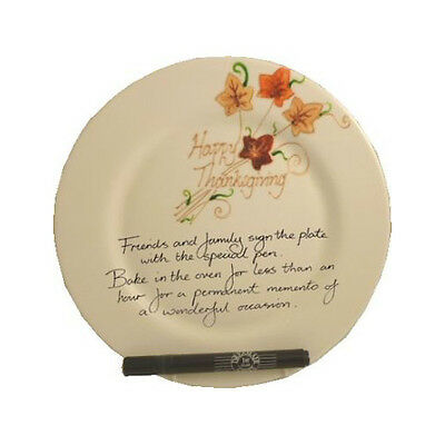 Happy Thanksgiving Gift Plate (round)