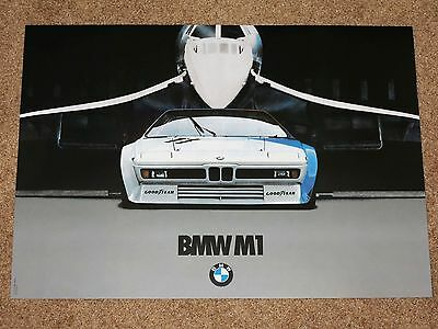 BMW M1 & CONCORDE POSTER 36 - M MOTORSPORT / ORIGINAL VINTAGE in MINT