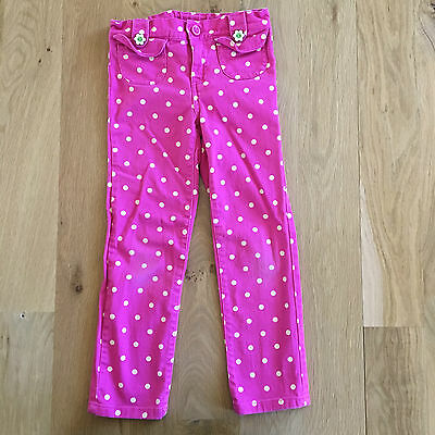 Gymboree girls cute pink pants with white polka dots  (size 6)