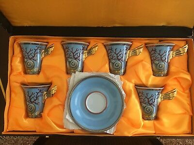 Cup And Saucer Set In The Style Of Versace Rosenthal