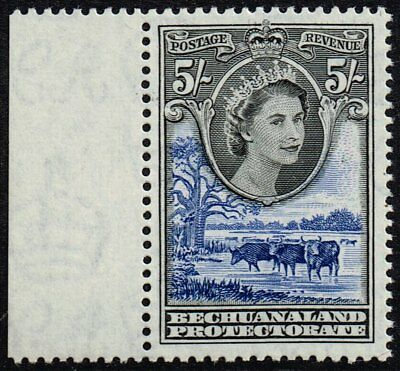 Bechuanaland 1955-58 5s. Elizabeth II, Baobab and cattle, MNH (SG#152)