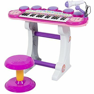 Musical Kids Electronic Keyboard 37 Piano W/ Microphone, Pink
