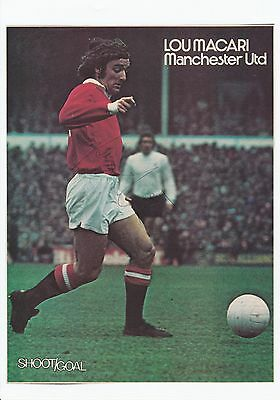 Lou Macari Manchester United 1973-1984 Original Hand Signed Magazine Cutting