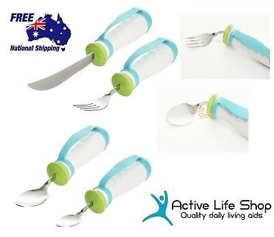 Bendable Cutlery Spoon Fork Knife Large Comfort Grip Strap Light Bendy PREMIUM