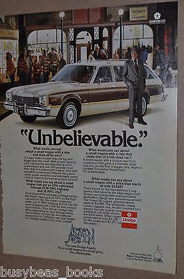 1976 Dodge advertisement, DODGE ASPEN station wagon with Rex Harrison