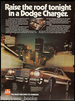 1977 DODGE CHARGER advertisement, Dodge Charger, T-Bar roof