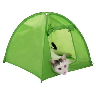 Cat Kitten Camp Tent Den Home House Pet Camping Outdoor Indoor Cozy Green Tent …