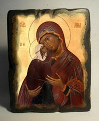 Handmade copy ancient icon ORTHODOX CHURCH Prayer ICON St Anne Анна 126XL