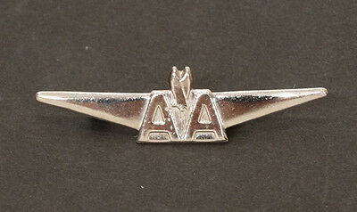 1960's Vintage AMERICAN AIRLINES Metal Pin Back JUNIOR PILOT Toy Badge WINGS