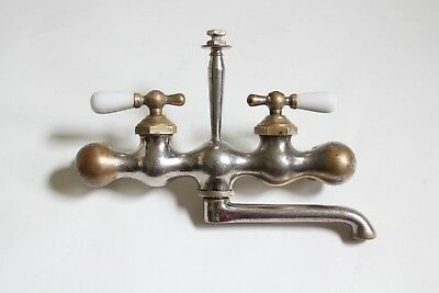 antique faucet kitchen sink | nickel vtg mixing faucet shower victorian deco