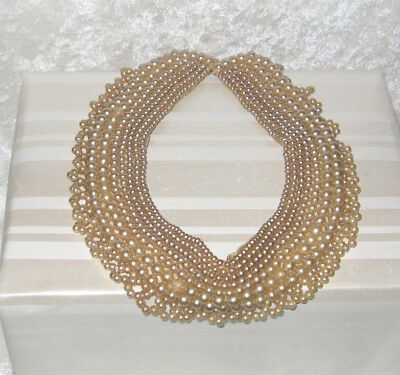 TRUE Vintage Faux Pearl Collar 'TOP HIT' FASHION JAPAN HAND MADE - NICE!