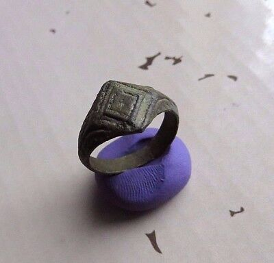Nice Ancient Viking Bronze ring.- Wearable.