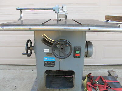 """DELTA 10"""" UNISAW TABLE SAW  2 hp 3 phase"""