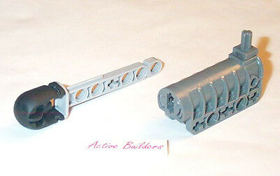 Lego Black Technic Weapon Cannon Round Bottom 32074 with Arrow