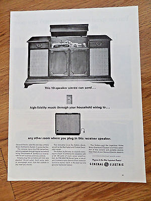 1962 GE General Electric Stereo Ad