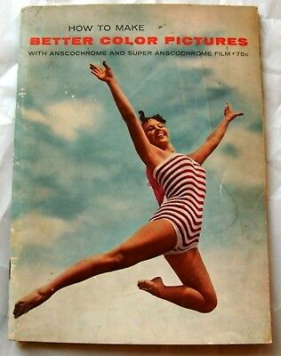 Ansco How To Make Better Color Pictures vintage booklet 1958 photography film