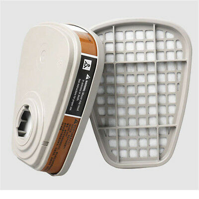 2PCS 6001cn Organic Vapor Respirator Filter Cartridge For 3M 7502 6200 Gas Mask