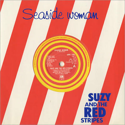 "Seaside Woman - Yellow ... Suzy And The Red Stripes UK 7""  record"
