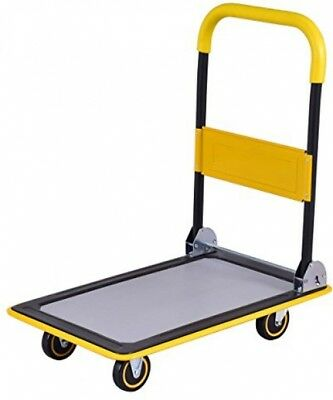 Folding Platform Cart 330LB Rolling Flatbed Cart Hand Platform Truck For Loading