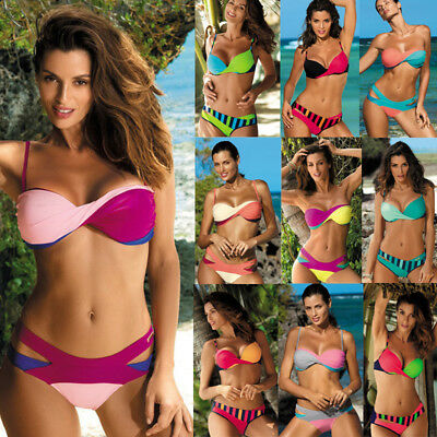 Women Push-up Padded Bra Bikini Set Triangle Swimwear Swimsuit Bathing Beachwear