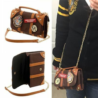 Chic Harry Potter Hogwarts PU School Badge Wallet Hand Satche Purse Shoulder Bag