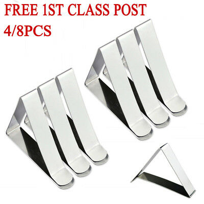 4/8X British Steel Table Cloth Cover Clips Quality Metal Pegs Clamps Picnic Prom