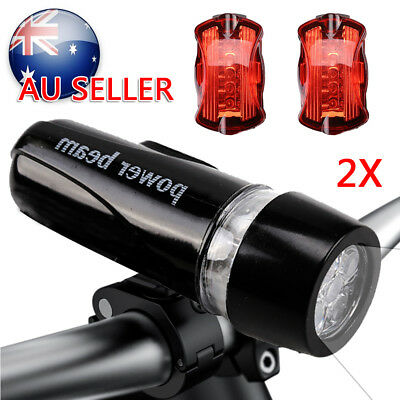 Set USB Rechargeable LED Bike Front Light headlight lamp rear tail Bar Wide Beam