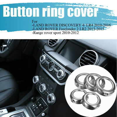 Chrome Dashboard Console Switch Button Ring Cover For Land Rover Discovery 4