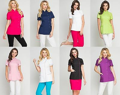Nurses Justin Tunic Beauty Women Uniform Salon Massage Dentist Colours Chospital
