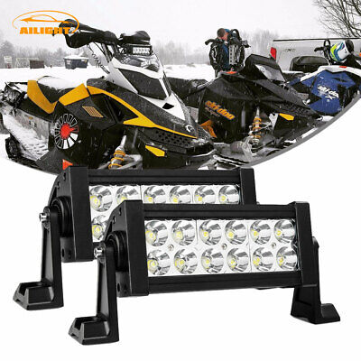 2x 7INCH 72W FLOOD LED WORK LIGHT BAR OFFROAD ATV FOG LAMP TRUCK 4WD 12V 24V