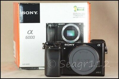 Sony Alpha a6000 24.3MP Digital Camera - Black (Body Only) - Mint/LNIB 5k Clicks