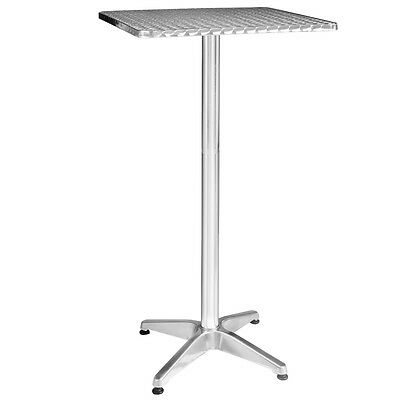 Adjustable Height Garden Outdoor Aluminum Stainless Steel Square Table 23 1/2""