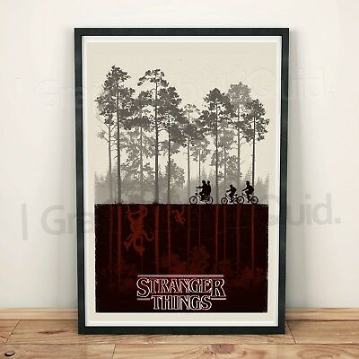 Stranger Things Art - The Upside Down Posters - TV Show Art Prints - A2 A3 A4