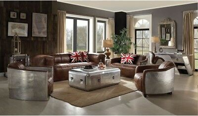 Pleasant Sofa Love Seat Chair Accent Chair Brown Top Grain Leather Pdpeps Interior Chair Design Pdpepsorg