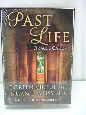 PAST LIFE Oracle Cards 44 Card Deck & Guidebook Doreen Virtue & Brian Weiss New
