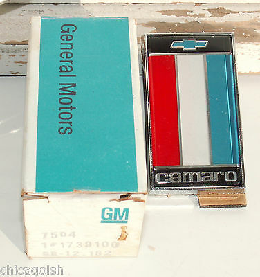 Orig. NOS 1975-77 Chevy Camaro Z28 RS SS Rear Deck Trunk Badge Emblem GM 1739100