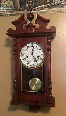 Vintage Kassel 31 Day Wall Mount Mechanical Gothic Wall Clock Key Germany