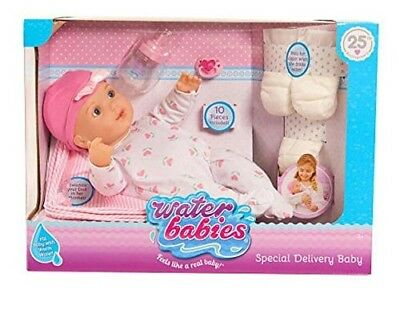 """NEW! 16"""" Waterbabies 25th Anniversary - Special Delivery Baby Doll with Playset"""