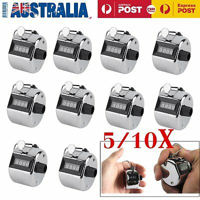 5/10X Hand Held Tally Counter Manual Counting 4 Digit Number Golf Clicker LOT OZ