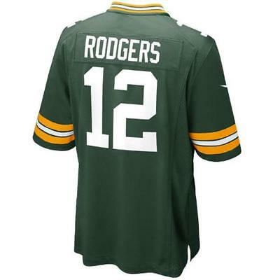 Green Bay Packers Aaron Rodgers Green Game Jersey