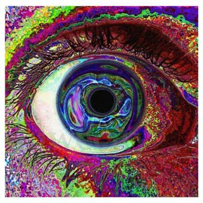 Cosmos Silk Cloth Art Poster Home Wall Decor, Psychedelic Eye P1C1 D1Q1